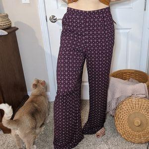 Merona Retro High Waisted Wide leg flowy pants